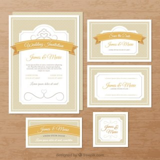 Elegant Wedding Invitations Free Vector