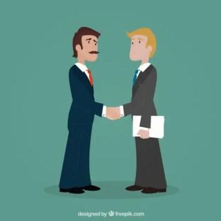 Entrepreneurs Shaking Hands Free Vector