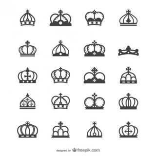 European Crown Silhouette Free Vector