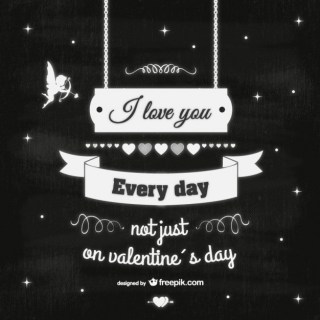 Everyday Love Free Vector