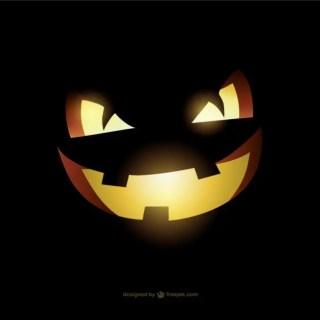 Evil Halloween Pumpkin Face Free Vector