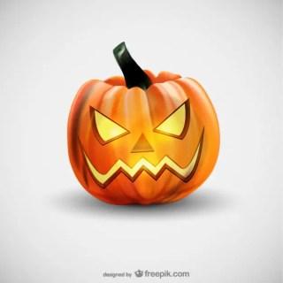 Evil Halloween Pumpkin Free Vector