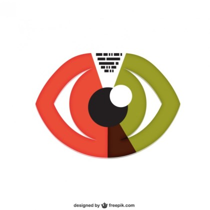 Eye Conceptual Free Vector