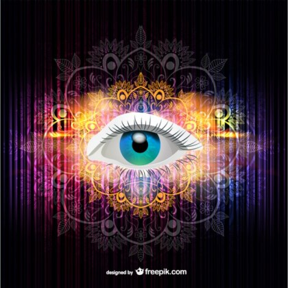 Eye Illustration Rainbow Colors Free Vector