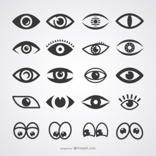 Eyes Icons Collection Free Vector