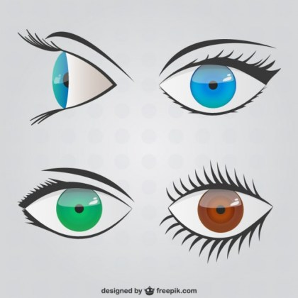 Eyes Scribbles Pack Free Vector