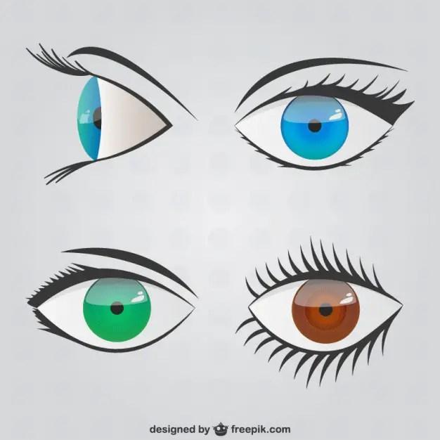 Eyes Scribbles Pack Free Vector