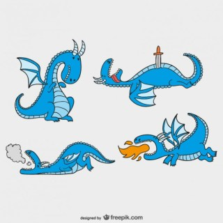 Fairy Tales Dragons Pack Free Vector
