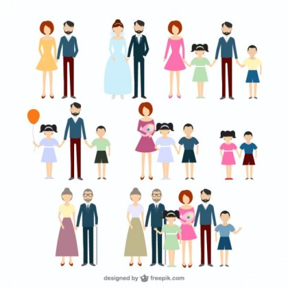 Family Icons Collection Free Vector