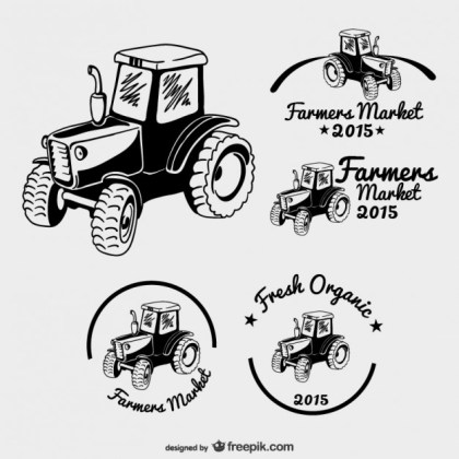 Farmers Market Logos Pack Free Vector