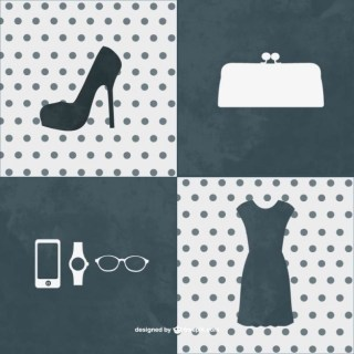 Fashion Kit Graphic Elements Free Vector