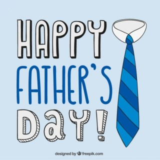 Fathers Day Card with a Tie Free Vector