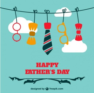 Fathers Day Design Free Vector