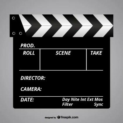 Film Slate Free Vector