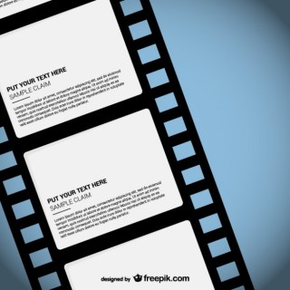 Film Strip Template Free Vector