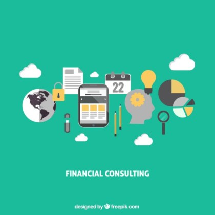 Financial Consulting Infographic Free Vector