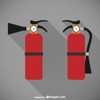 Fire Extinguishers Illustration Free Vector
