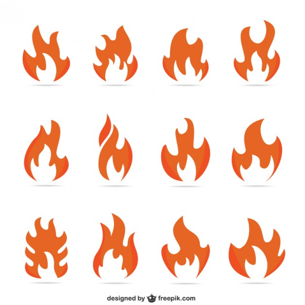 Fire Flames Pack Free Vector