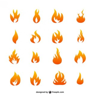Flame Icons Free Vector