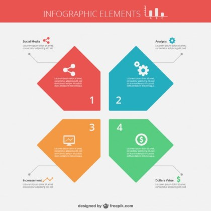 Flat Infographic Template Free Vector