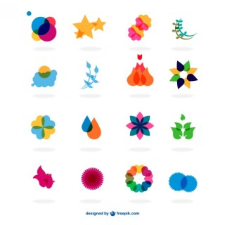 Flat Symbols Abstract Design Free Vector