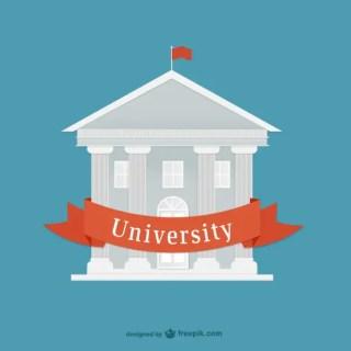 Flat University Free Vector