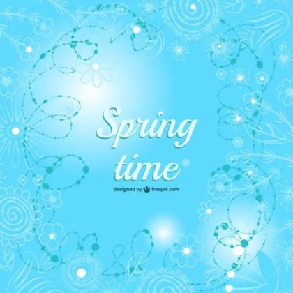 Floral Frame Spring Design Free Vector