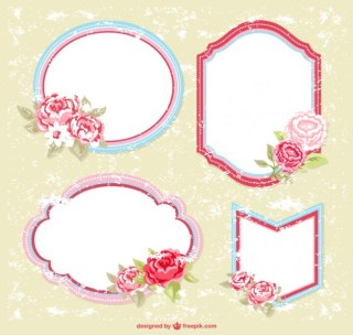 Floral Frames for Download Free Vector