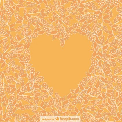 Floral Heart Card Free Vector