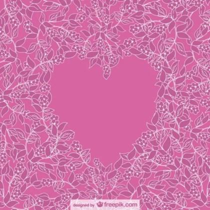 Floral Heart Design Free Vector