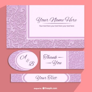 Floral Invitation Templates Pack Free Vector