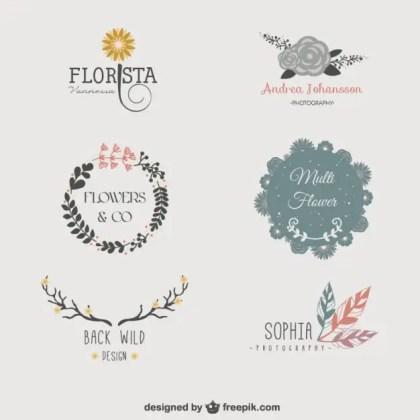 Floral Logo Templates Free Vector