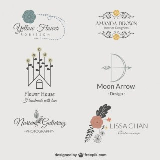 Floral Logos Pack Free Vector