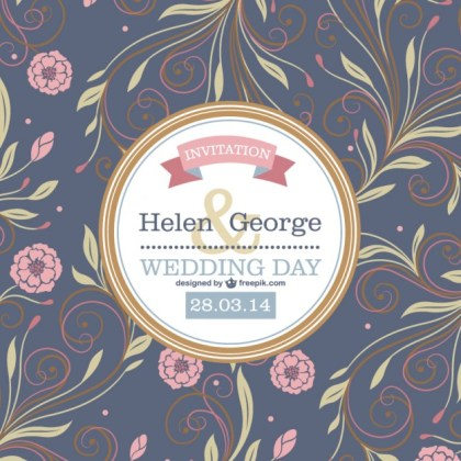 Flowers Wedding Design Free Vector