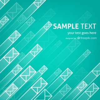 Flying Envelopes Template Free Vector
