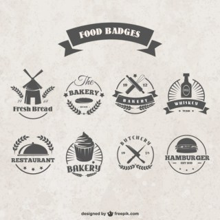 Food Badges Free Vector
