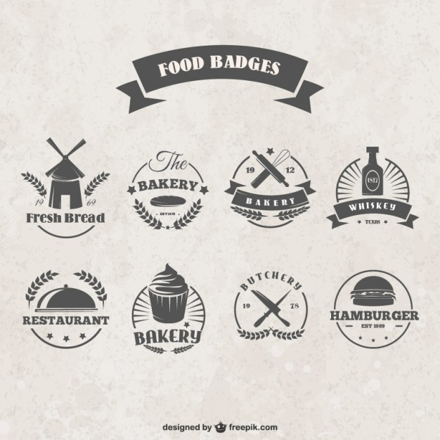 Food Badges Free Vector