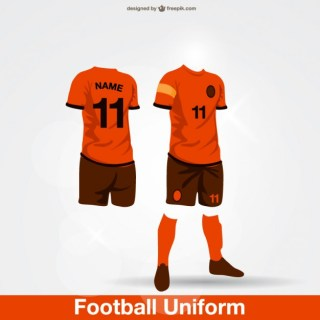 Football Uniform Free Vector