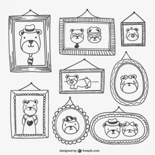 Frames and Portraits Drawings Free Vector