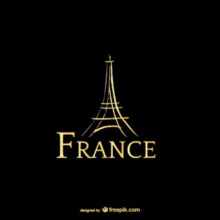France and Eiffel Tower Logo Free Vector