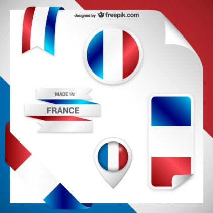 France Stickers Free Vector