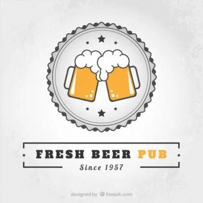 Fresh Beer Pub Free Vector