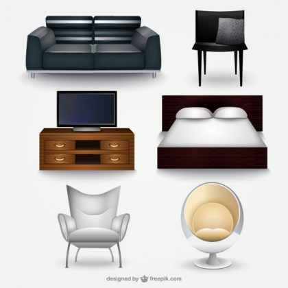 Furniture Collection Free Vector