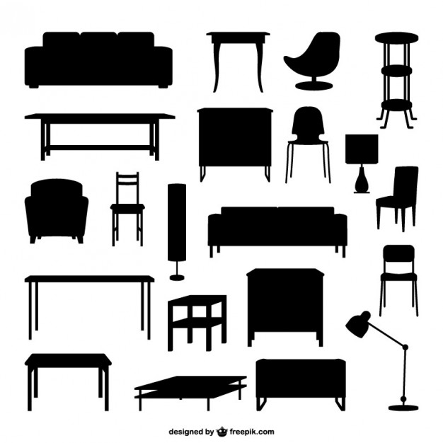 Furniture Outlines Free Vector