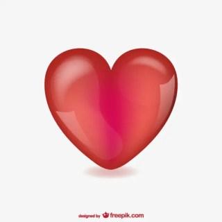 Gauzy Heart Free Vector