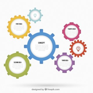 Gears Infographic Free Vector