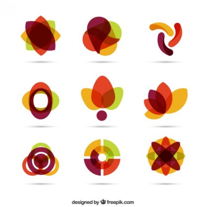 Geometric Connected Shapes Free Vector
