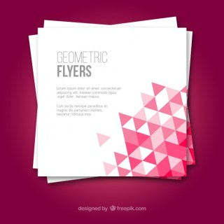 Geometric Flyers Free Vector