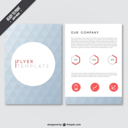 Geometrical Flyer Template Free Vector