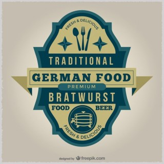 German Food Badge Free Vector